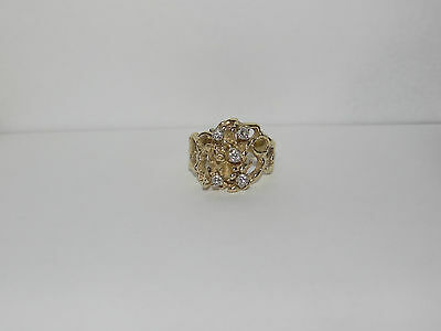 $475 • Buy 18k Yellow Gold Diamond Ring ~ 7.75 Size ~ 8.9 Grams ~ Jewelry