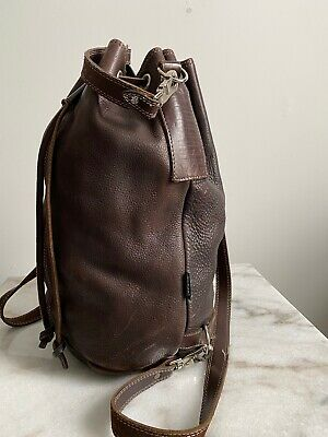 $ CDN120 • Buy Rugby M0851 Brown Bucket Backpack  Travel  Leather X Large Bag