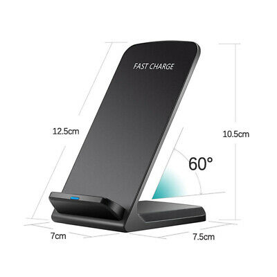 AU16.99 • Buy 10W Wireless QI Fast Charger Charging Dock Stand Holder For IPhone 11 XS Samsung
