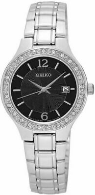 $ CDN99.99 • Buy Seiko Womens Swarovski Crystal Accented Stainless Steel Watch - SUR785 SUR785P1
