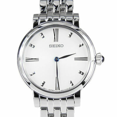 $ CDN129.99 • Buy Seiko Womens White Dial Stainless Steel Quartz Watch - SFQ817P1 SFQ817