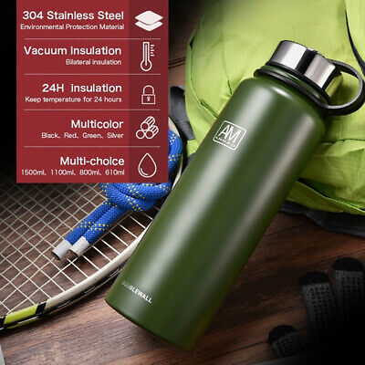 AU27.99 • Buy New 1.5L Vacuum Insulated Stainless Steel Double-Wall Drink Water Bottle Flask