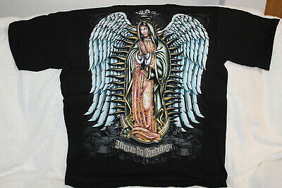 $11.74 • Buy Virgen De Guadalupe Wings Crown Pray Religious Religion T-shirt Shirt