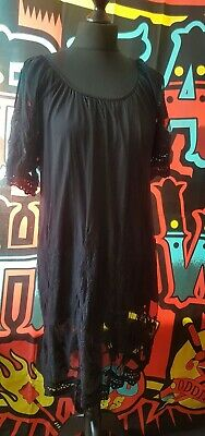 £9 • Buy Hearts And Bows Black Dress Size 10