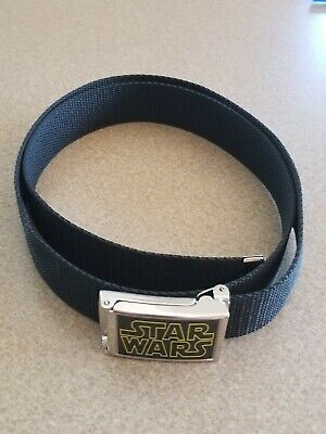 $12.75 • Buy Star Wars Logo Silver Buckle Adjustable Web Belt Black Kids Adult Size EUC