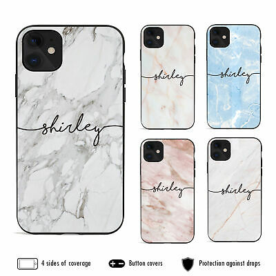 AU12.99 • Buy For IPhone 12 Pro Max 11 XS XR X 8 Plus Shockproof Case Marble Personalised Name