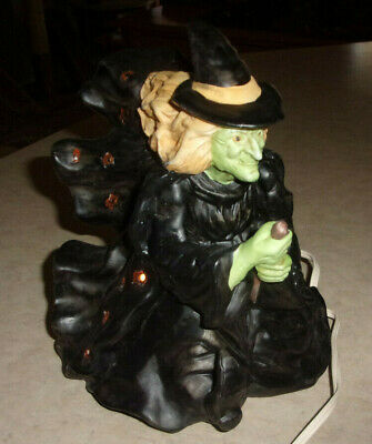 $ CDN94.93 • Buy Vintage Witch Halloween Ceramic Light Up Witch 9 .5  Tall Excellent