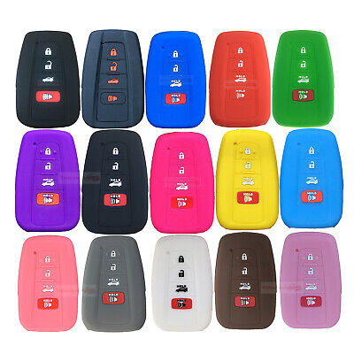 $4.96 • Buy Fit TOYOTA RAV4 Camry 4 Button Remote Smart Key Fob Silicone Skin Case Cover
