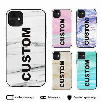 AU12.99 • Buy IPhone 11 Pro Max XS XR X 8 7 6s Plus Shockproof Case Marble 8 Personalised Name