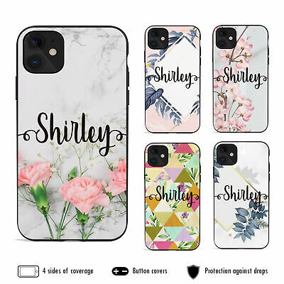 AU12.99 • Buy IPhone 11 Pro Max XS XR X 8 7 6 Plus Shockproof Case Marble 12 Personalised Name