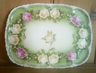 £42 • Buy Antique Rosenthal Versailles, Bavaria Plate / Tray, Hand Painted