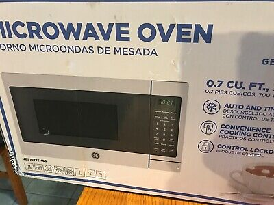 $100 • Buy GE 700 Watt Countertop Microwave Oven, Stainless Steel (Certified Refurbished)
