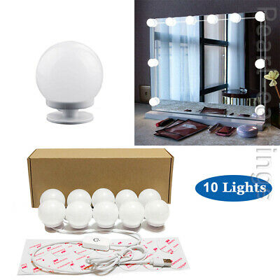 Hollywood LED Vanity Mirror Lights Kit 10 Dimmable Bulbs For Makeup Dressing PE • 10.99£