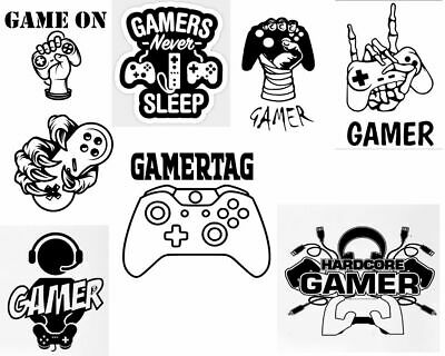 £4.99 • Buy  Gaming Wall Stickers Gamers,Streaming Vinyl Decal DIY Xbox Series X Man Cave