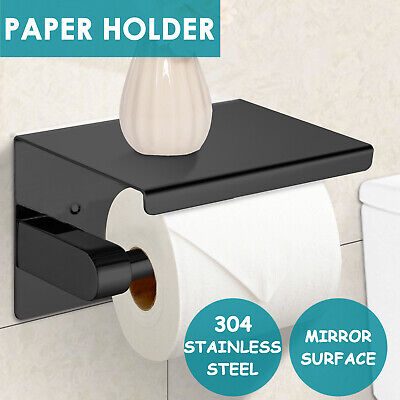 AU21.99 • Buy Stainless Steel Toilet Paper Roll Holder Storage Hooks Bathroom Washroom