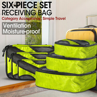 AU32.99 • Buy 6 Pcs Travel Cubes Storage Toiletry Bag Clothes Luggage Organizer Packing Bags