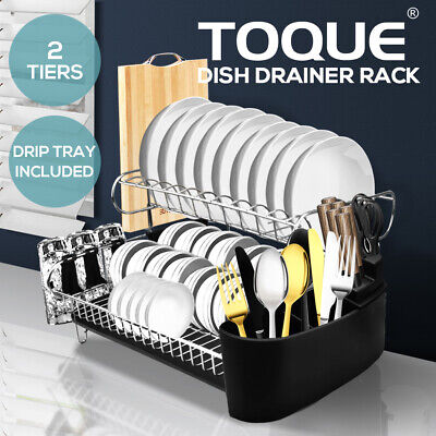 AU49.99 • Buy Stainless Steel Kitchen Dish Rack Dishrack Cup Dish Drainer Plate Tray Holder