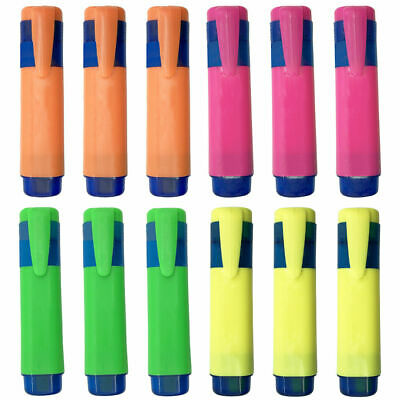 £3.99 • Buy 8/12 Highlighter Pens | Assorted Fluorescent Bright Colours Chisel Tip Markers