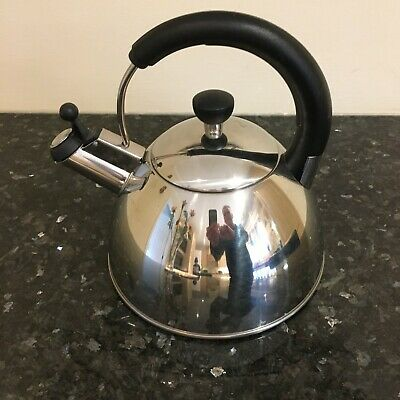 Polished Stainless Steel Whistling Kettle 3 Pint For Electric/gas Hob/stove Good • 20£