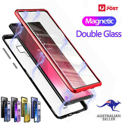 AU18.50 • Buy Samsung 360° Magnetic Case S10 Note 10 Plus S8 S9 Phone Double Tempered Glass