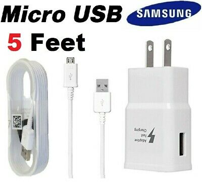 $ CDN21.45 • Buy OEM Samsung Galaxy S6 S7 Edge Note 5 Original Fast Wall Charger Micro USB Cable