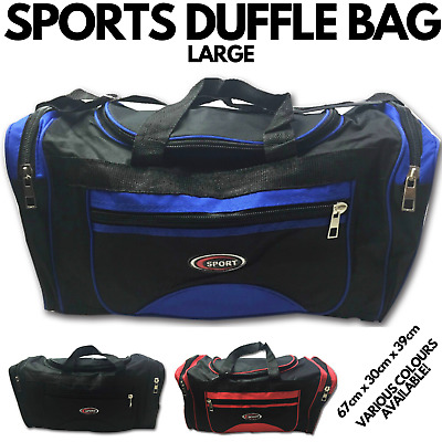 AU27 • Buy SPORTS BAG LARGE With Shoulder Strap Gym Duffle Travel Bags Water Resistant New