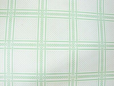 Vintage Osborne & Little * Green Squares On Cream * WALLPAPER '50s In Style 213B • 5.75£
