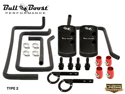$ CDN229.74 • Buy 2007-2013 G37 VQ37VHR Baffled Oil Catch Can Kit System | Bull Boost Performance™