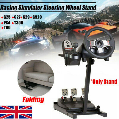 Racing Simulator Steering Wheel Stand Driving Gaming For G29 G920 T300RS T80 UK • 48.59£