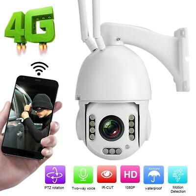 1080P 4G PTZ Camera Home Security Survelliance 30X ZOOM 2MP Webcam Waterproof • 184.67£