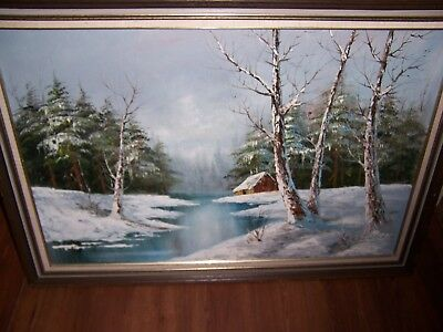 $ CDN228.60 • Buy Original Oil Painting Cabin In The Woods Done By Famous Artist Cantrell Signed