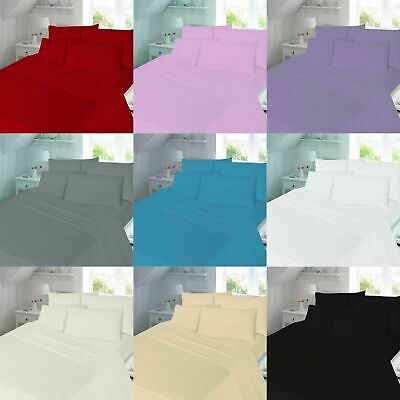 100% Brushed Cotton Flannelette Extra Deep 16  Fitted Sheet Warm Soft Bed Sheets • 11.49£