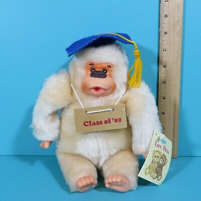 $ CDN18.08 • Buy Vintage Russ Gorilla Monkey Gonga Class Of 1989 Graduation Thumb Sucking Plush