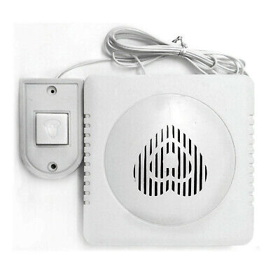 Door Bell Wired Push White Battery Operated Easy Fit Outdoor Chime Speaker House • 5.75£