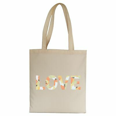 Love Embroidery Illustration Tote Bag Canvas Shopping • 8.99£