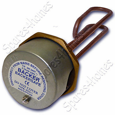 £26.86 • Buy Backer 11  Immersion Heater Hot Water Heating Element And 7 Thermostat Freepost