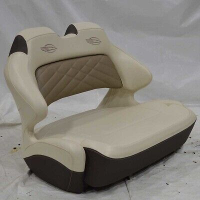 $ CDN1611.36 • Buy Chaparral Boat Double Wide Helm Bolster Seat Off White Brown - Tears