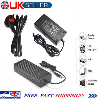 Adapter 12V 5A/10A Power Supply 2/4/6/8 Way Splitter Cable CCTV Camera LED Strip • 11.79£