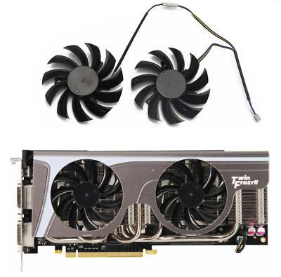 £4.16 • Buy 2psc 75MM PLD08010S12HH Cooler Fan For MSI GeForce GTX 580 570 560 560Ti 480 465