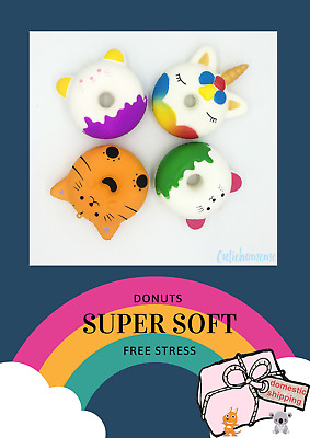 AU9 • Buy *New*Unicorn Donut Squishy Scented Charm Squeeze Slow Rising Stress Release Toy