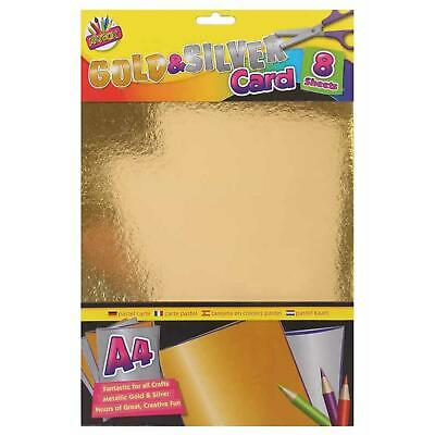 £2.79 • Buy Gold Silver Card A4 - Metallic Sheets Cardstock Craft - UK Stockist