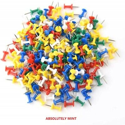 £2.15 • Buy 100 Push Pin Assorted Multi Coloured Drawing Pins Notice Office Cork Board W5