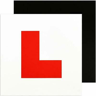 Genuine 2 X L Plate Fully Magnetic Exterior Car Learner Secure & Safe Legal Size • 1.65£