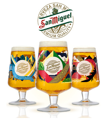 £11.99 • Buy San Miguel 2020 Limited Edition Chalice Glass Or Beermats Celebrating 130 Years