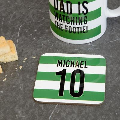 Personalised Custom Any Your Football Team Strip Drinks Gift For Him Dad Son • 4.90£