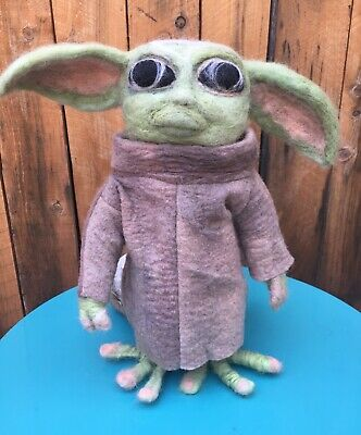 $279 • Buy Baby Yoda Mandalorian Felted Figurine-Artist Made