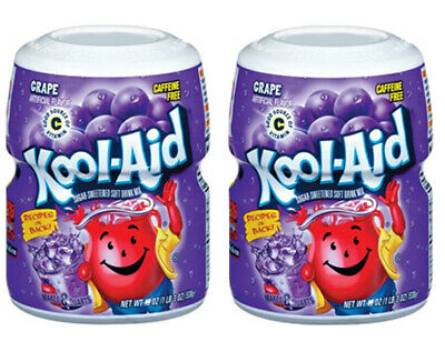 KoolAid Grape Soft Drink 538g (pack Of 2 Tubs) • 10.99£