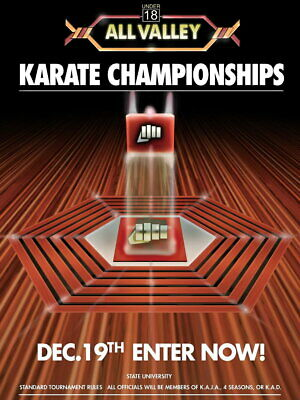 $42.74 • Buy V8939 Karate Kid Tournament All Valley From 1984 Movie Art PRINT POSTER Affiche