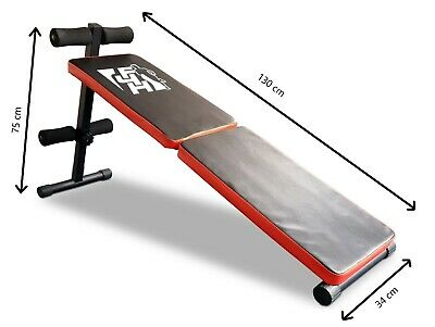 Refurbished Sub 53 Red Sit Up Exercise Bench Fold-able Home Gym Fitness  • 39.99£