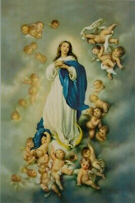 Immaculate Conception Virgin Mary Roman Catholic Icon Postcard 10x15cm • 3£